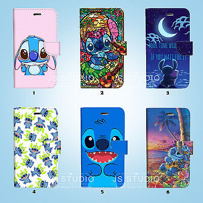 AU12.99 • Buy Disney Lilo Stitch Wallet Case Cover IPhone 12 11 Pro Max Mini XS XR X SE 079