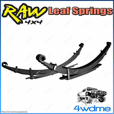 AU480 • Buy Fits Toyota Hilux KUN26 4WD RAW Rear Leaf Springs Heavy 200-400kg 2  45mm Lift