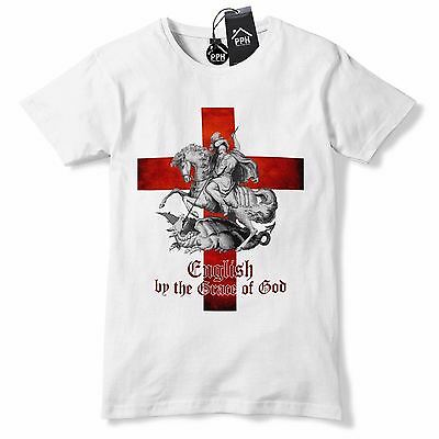 English By The Grace Of God T Shirt St George's Day Tshirt Dragon England GD1 • 9.95£