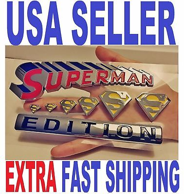 $ CDN26.39 • Buy SUPERMAN Edition Emblem Hero DECAL Letters BADGE Side Fenders Sign FIT ALL CARS