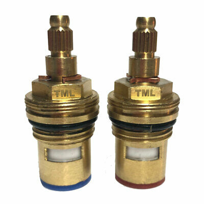 DAMIXA Replacement Ceramic Disc Tap Valves Cartridges Compatible 13297 13298 • 39.99£