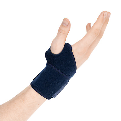 Actesso Blue Wrist Hand Strap Support Wrap Strap - Sports Bandage For RSI & Pain • 7.99£