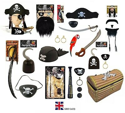 £3.30 • Buy PIRATE FANCY DRESS COSTUME ACCESSORY Party Toy Dress Up Birthday Caribbean Lot
