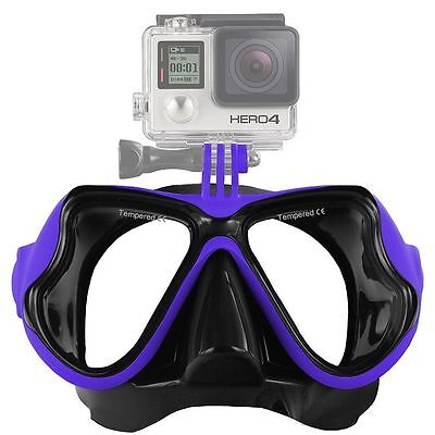 AU29.95 • Buy With GoPro Bracket Liquid  Silicone Mask For Snorkeling Scuba Diving WIL-DM-GPB