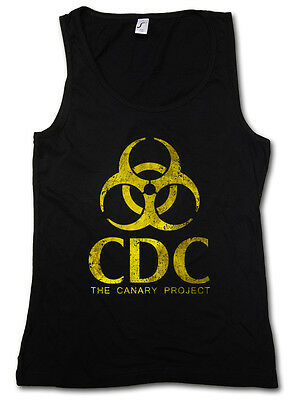 AU34.99 • Buy THE CANARY PROJECT TANK TOP WOMAN GYM - CDC Biohazard Logo Vampire TV The Strain