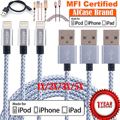 AU8.90 • Buy Apple MFI Certified Lightning Charger Data Sync Cable IPhone X 6 6s 7 Plus 5 Lot