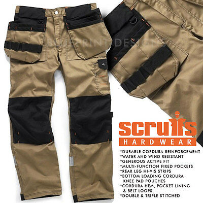 Scruffs Original Brown Heavy Duty Trade Cargo / Combat Multipocket Trousers • 42.95£