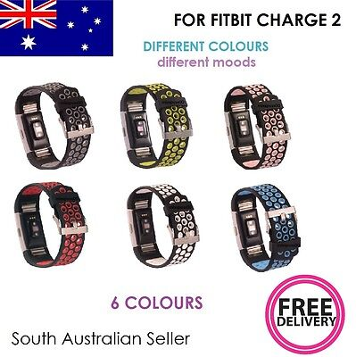 AU4.99 • Buy 2 Colour Silicone Strap Gel Band With CLASP For FITBIT CHARGE 2 SA & AU SELLER