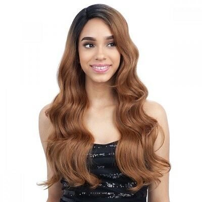 £38.97 • Buy Freedom Part 202 - Freetress Equal Synthetic Lace Front Long Curly Wavy Hair Wig