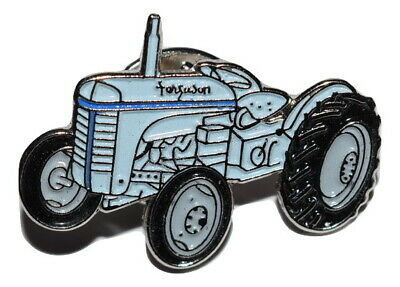 Vintage Grey T20 Tractor Pin Badge Farming Gift Wedding Favours Enamel Metal • 2.69£