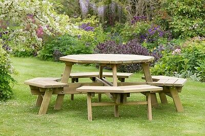 Garden Magic Picnic Tables, Outdoor Furniture, Pressure Treated, 2 Styles • 269.95£
