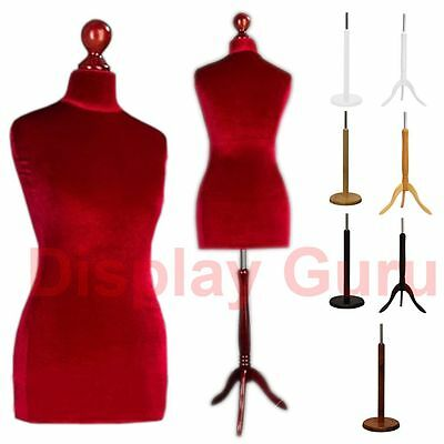 Female Male Red Tailors Dummy For Tailor Dressmaker Fashion Mannequin Bust • 34.99£