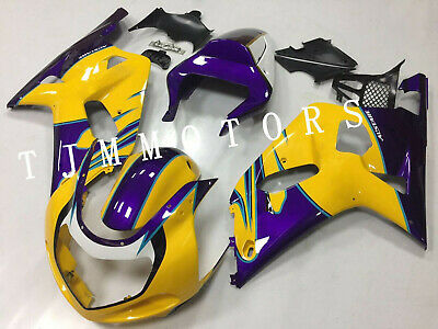 $485 • Buy For GSXR600/750 2001-2003 ABS Injection Mold Bodywork Fairing Kit ALSTARE Yellow