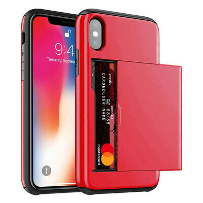 AU6.95 • Buy New Slide Card Pocket Wallet Heavy Duty Shockproof Case Cover For IPhone Samsung