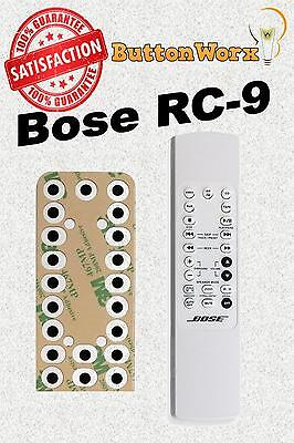 Bose RC-9 RC-9A Remote **BUTTON REPAIR KIT** For Lifestyle 3,5,8,12-Music Center • 6.07£