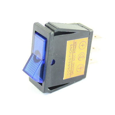 Blue Illuminated Rocker Switch - On / Off  - Car Tractor 12v Dash Light  • 2.85£