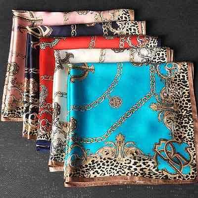$11.12 • Buy 100% Silk Square Leopard Scarf Women's Fashion Print Neckerchiefs Wraps 21 *21