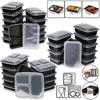 Microwave Dishwasher Safe Food Storage Lunch Box Container Prep Meal Organizer • 8.99£