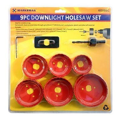 £10.99 • Buy 9pc Circular Tooth Hole Saw Wood Plasterboard Plastic Down Light Cutter Cut Set