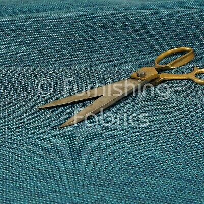 £0.99 • Buy Modern Plain Chenille Smooth Textured Teal Upholstery Curtain Furnishing Fabric