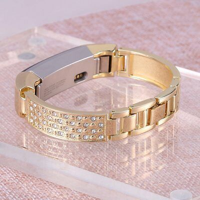 AU36.35 • Buy For Fitbit Alta Bracelet Band Bangle Gold Stainless Steel Metal Wristband