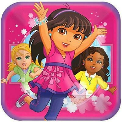 Dora The Explorer Friends Nick Jr Kids Birthday Party 9  Square Dinner Plates • 6.12£