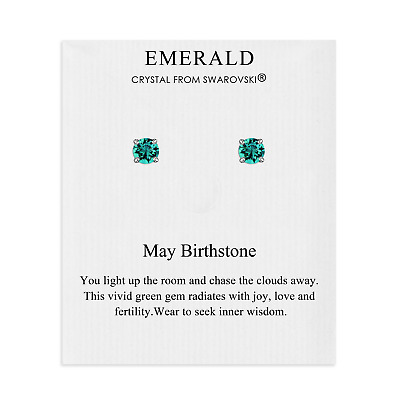 £6.95 • Buy May (Emerald) Birthstone Earrings Created With Swarovski® Crystals
