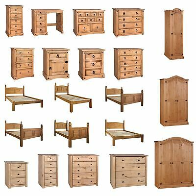Corona & Panama Chest Of Drawers Mexican Solid Waxed Pine Bedroom Furniture • 62.90£