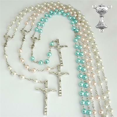 Rosaries With Chalice Centre For Girls, Boys, First Holy Communion Gifts • 5.99£