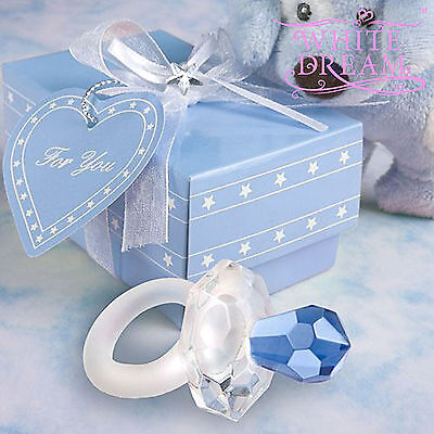 Crystal Baby Pacifier Dummy | Baby Showers Baptisms Christenings Favours Gifts • 2.98£