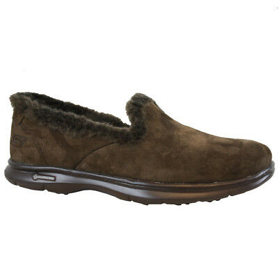 Ladies Skechers Go Step Relaxed Fit Memory Foam Fur Slippers Shoes Trainers Size • 39.95£