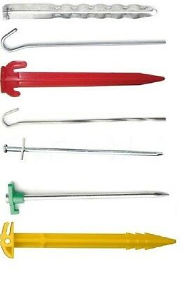 £6.99 • Buy Large Variety Of Tent & Awning Pegs, Packs Of 5, 10, 20, 30, 40, 50