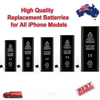 AU11.99 • Buy Replacement Battery IPhone XS Max XR X 8 7 6S 6 Plus SE 5S 5C 5 4S 4 New 0 Cycle