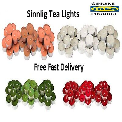 IKEA  Scented 4 Hour Burning Colour Tealight Candles -  Choice Of 6 Fragrances • 5.99£