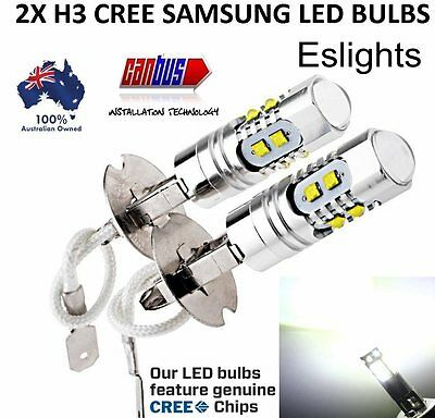 AU27.95 • Buy 2x H3 50w Led Cree Xbd Headlight Fog Driving Light Bulb Car Ute 4wd Lamp Globe