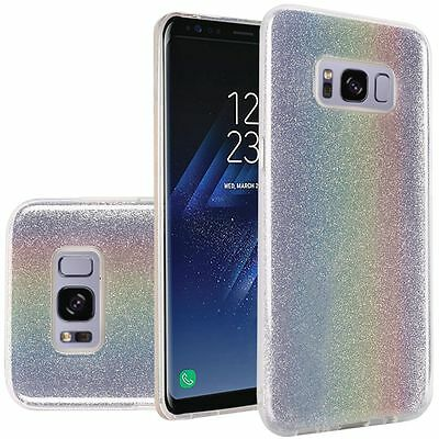 $ CDN8.77 • Buy Samsung GALAXY S8 /Plus Bling Hybrid Liquid Glitter Rubber Protective Case Cover