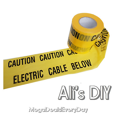 £2.69 • Buy Caution Electric Cable Below Under Ground Safety Tape Black Yellow Buried Sign