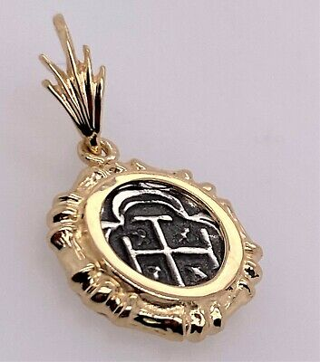 ATOCHA Coin Pendant Bamboo 925 Gold Plated Sunken Treasure Jewelry • 18.99$