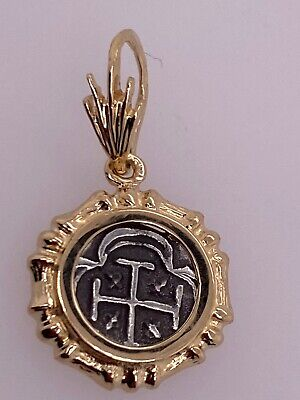 ATOCHA Coin Bamboo Pendant 14K Yellow Gold Treasure Shipwreck Coin Jewelry • 54.99$