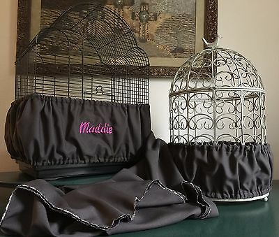$39.98 • Buy Handmade Charcoal Gray Fabric Bird Cage Seed Catcher Skirt Guard Or Cover XS-XXL