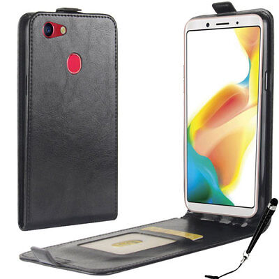 AU9.99 • Buy Black Leather Flip Card Wallet Case Cover For OPPO A73  + FREE Stylus