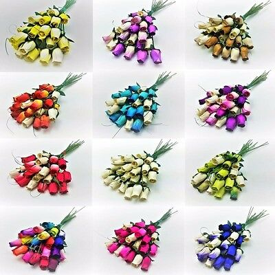 24 Wooden Rose Bouquet - Choose Colour Required - Birthdays - Weddings - Gifts • 9.99£