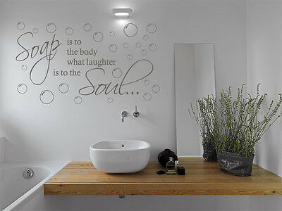 Bathroom Wall Quote  Soap Is To The Body...  Wall Art Sticker, Vinyl Transfer • 11.95£
