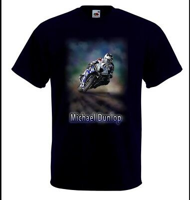 Airbrushed Isle Of Man TT  Superbike Rider Michael Dunlop T-Shirt In Any Size • 12.99£