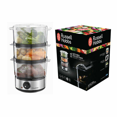£24.90 • Buy Russell Hobbs Food Collection 3 Tier Steamer 400 W Brushed Stainless Steel 14453
