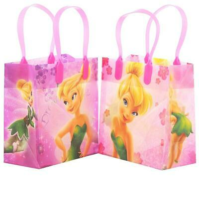 £9.21 • Buy 12PCS Disney TinkerBell Goodie Party Favor Gift Birthday Loot Bags Licensed NEW