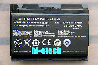 $63.88 • Buy Genuine P150HMBAT-8 Battery For CLevo P151HM Sager NP8150 NP8130 6-87-X510S-4D72