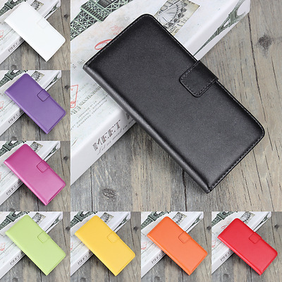 AU6.68 • Buy Genuine Leather Flip Stand Case Wallet Cover For Microsoft / NOKIA Lumia Models