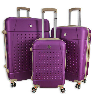 Rocklands Lightweight 4 Wheel Hard Shell Luggage Set Suitcase Cabin Bag ABS 18 • 32.95£