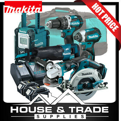 AU1490 • Buy Makita Brushless Tool Combo Kit 6 Piece Cordless + 2x 5.0Ah Batteries & Charger